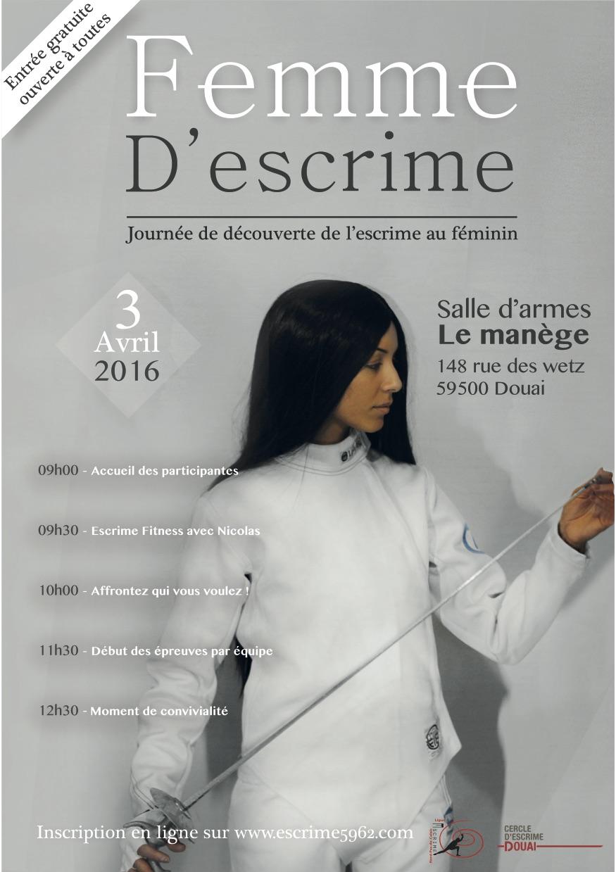 2016_flyers femme d'escrime
